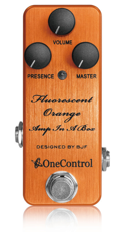 Fluorescent Orange Amp In A Box - BJF Series FX