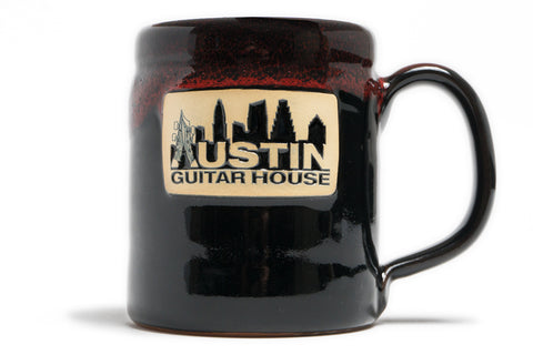 Austin Guitar House Coffee Mug by Deneen Pottery