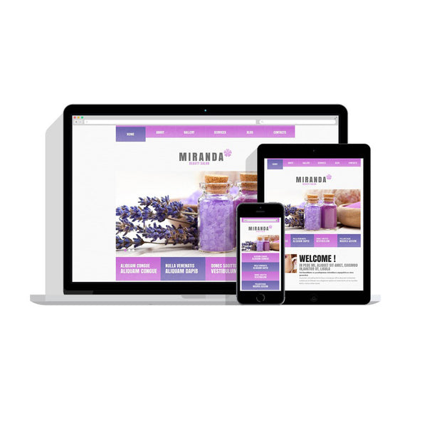 Salon Responsive Customizable Website - 47993