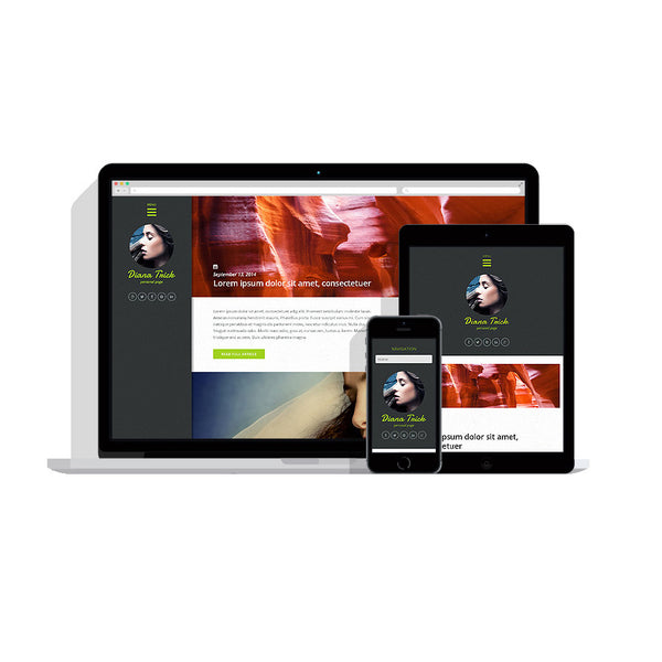 Personal Page Responsive Customizable Website - 50909