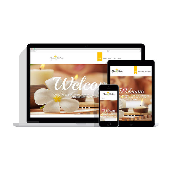 Spa Accessories Responsive Customizable Website - 53932
