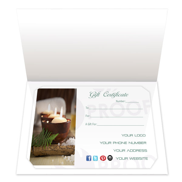 Gift Certificate Insert, Style IC01
