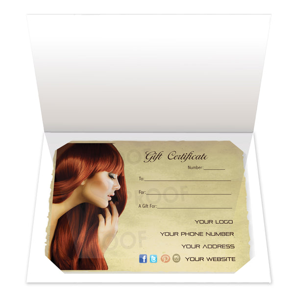 Gift Certificate Insert, Style IC02