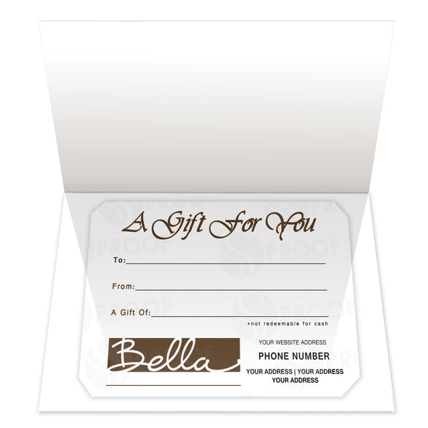 Gift Certificate Insert, Style IC03