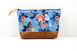 Large Zipper Pouch - Birch Floral