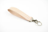 Swivel Key Fob - Rose Gold Stripe
