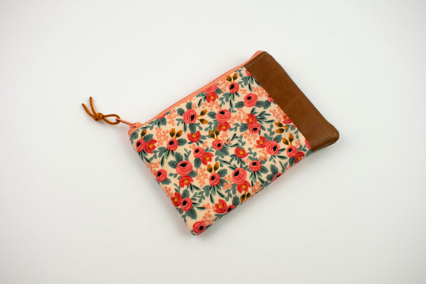 Coin Purse - Peach Floral