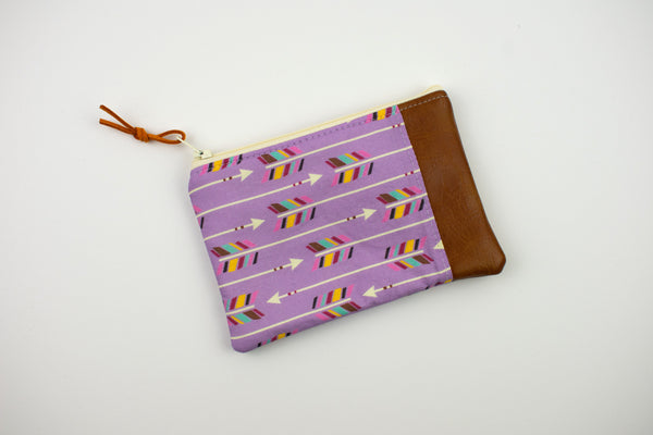 Coin Purse - Purple Arrow
