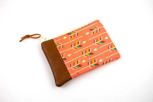 Coin Purse - Coral Arrow
