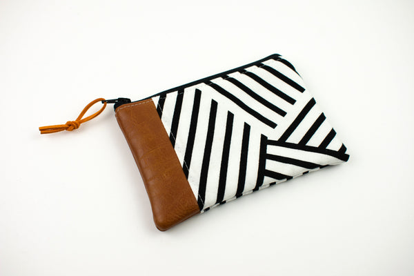 Coin Purse - Geometric Stripes