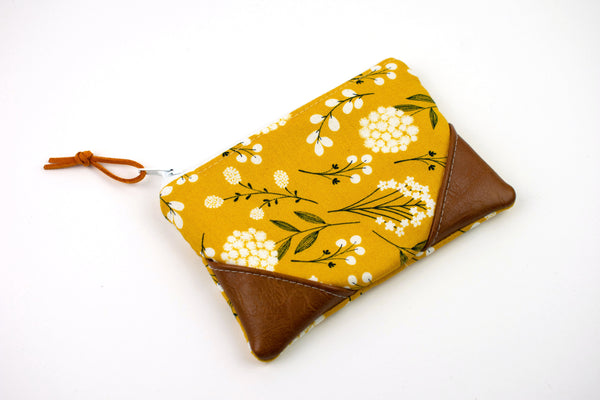 Coin Purse - Yellow Boho Floral