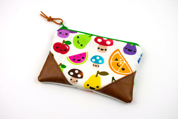 Coin Purse - Kawaii Fruits and Veggies
