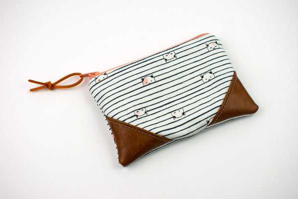 Coin Purse - Cat Stripe