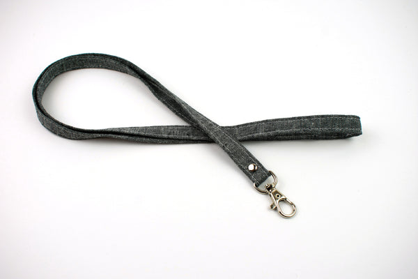 Lanyard ID Holder - Gray Linen