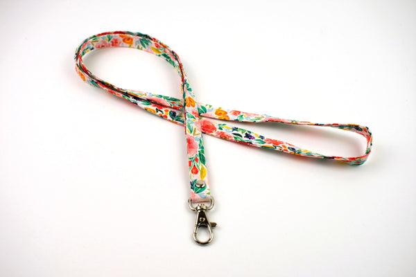 Lanyard ID Holder - Watercolor Floral Spring