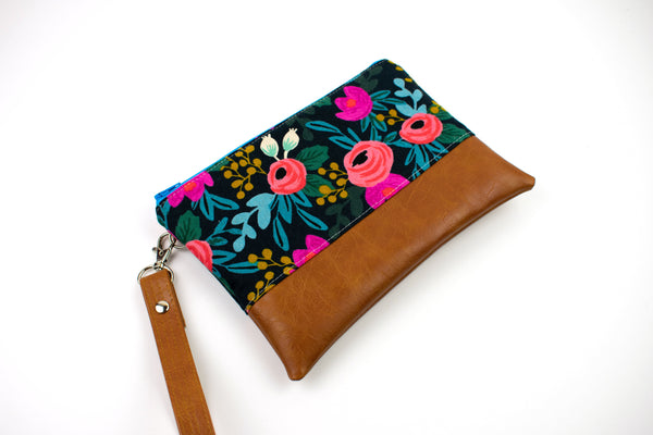Convertible Wallet - Navy Floral