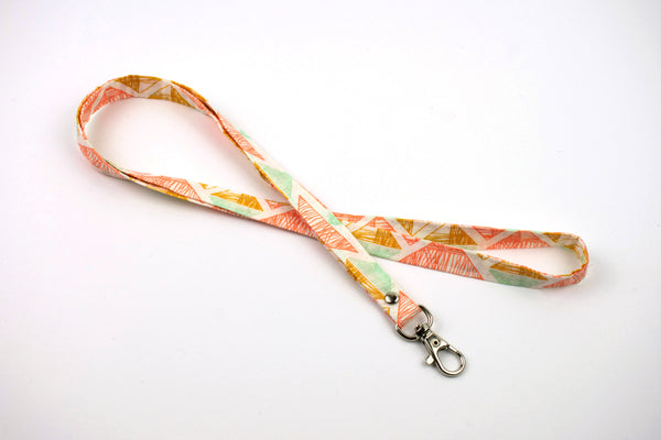 Lanyard ID Holder - Triangles