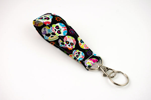 Swivel Key Fob - Sugar Skull