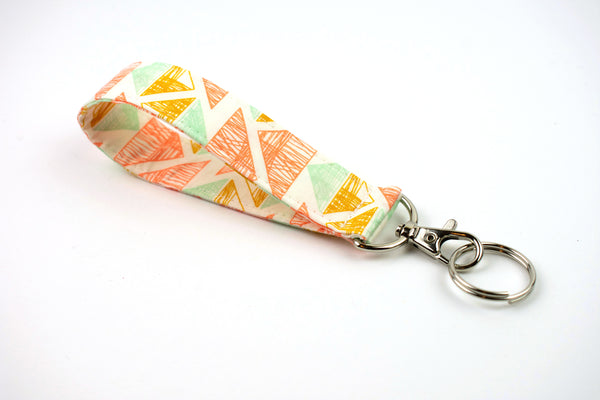 Swivel Key Fob - Pastel Triangle