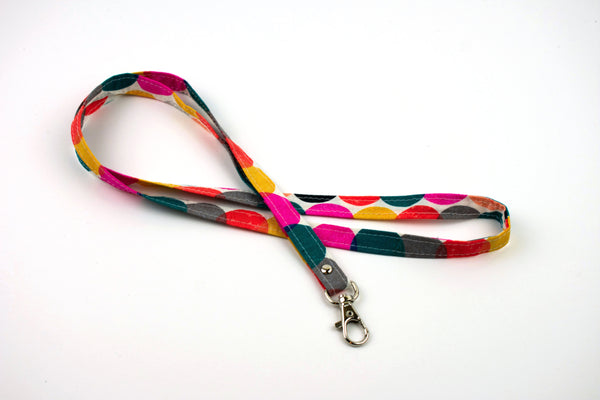 Lanyard ID Holder - Colorful Circles