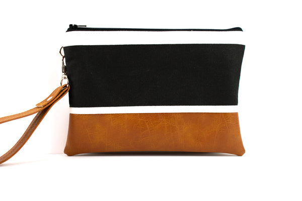 Convertible Wallet - Large Black Stripe