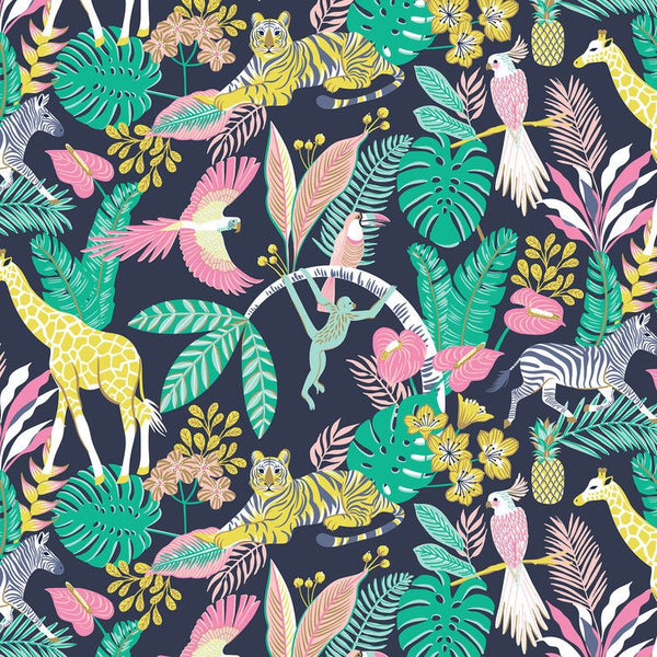 Tropical Paradise Tropical Friends in Navy