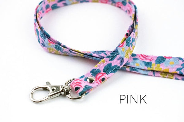 Lanyard ID Holder - Pink Floral