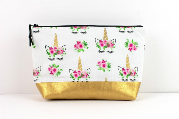 Large Zipper Pouch - Unicorn