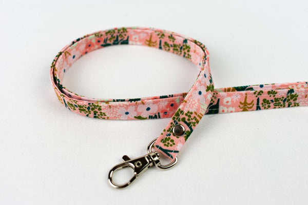 Lanyard ID Holder - Pink Meadow Floral