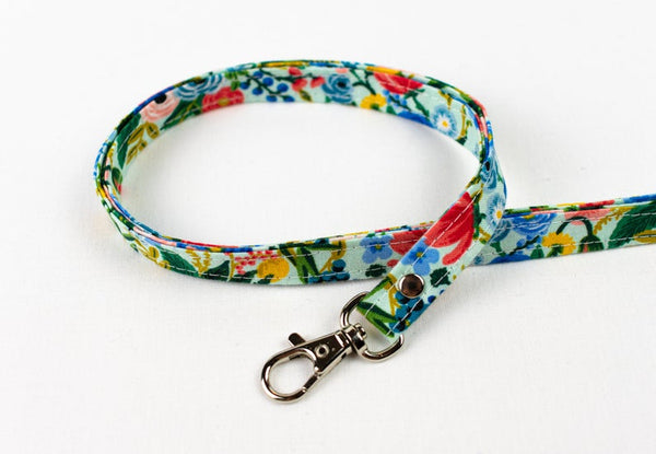 Lanyard ID Holder - Blue Garden Floral