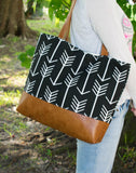 Diaper Bag - Black White Arrow