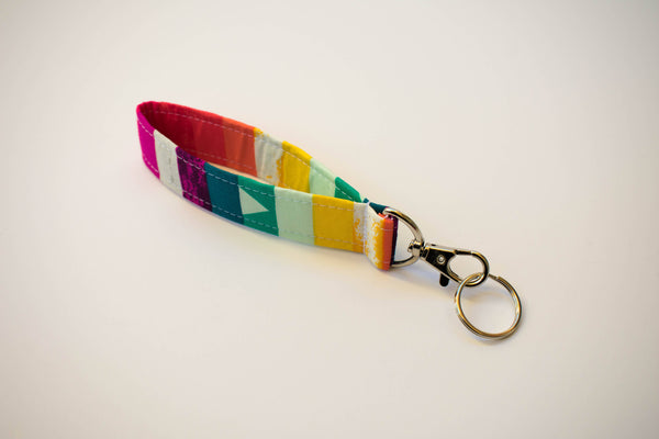 Swivel Key Fob - Rainbow