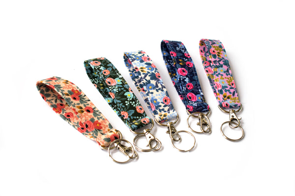 Swivel Key Fob - Floral