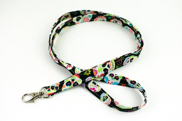 Lanyard ID Holder - Sugar Skull
