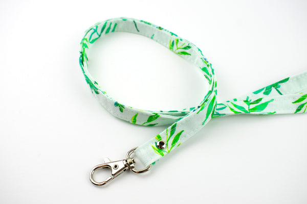Lanyard ID Holder - Watercolor Tropical Leaves