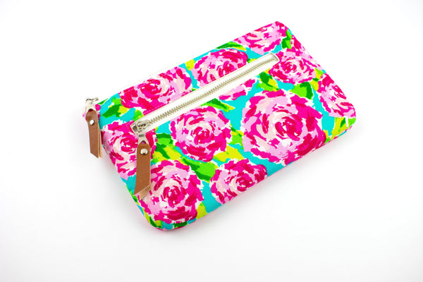 Phone Wallet - Abstract Rose