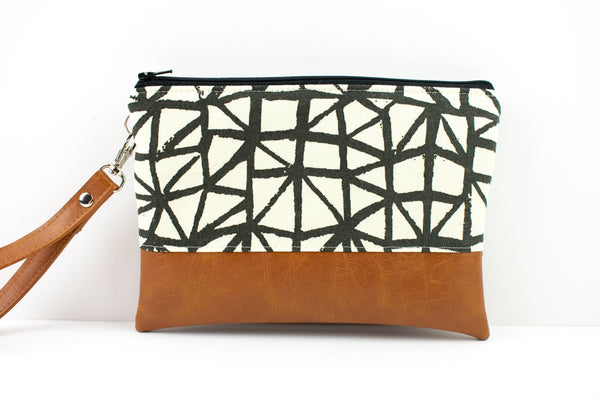 Convertible Wallet - Black White Geometric