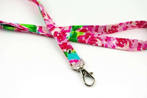 Lanyard ID Holder - Southern Abstract Rose