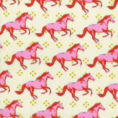 Mustang Horses Pink