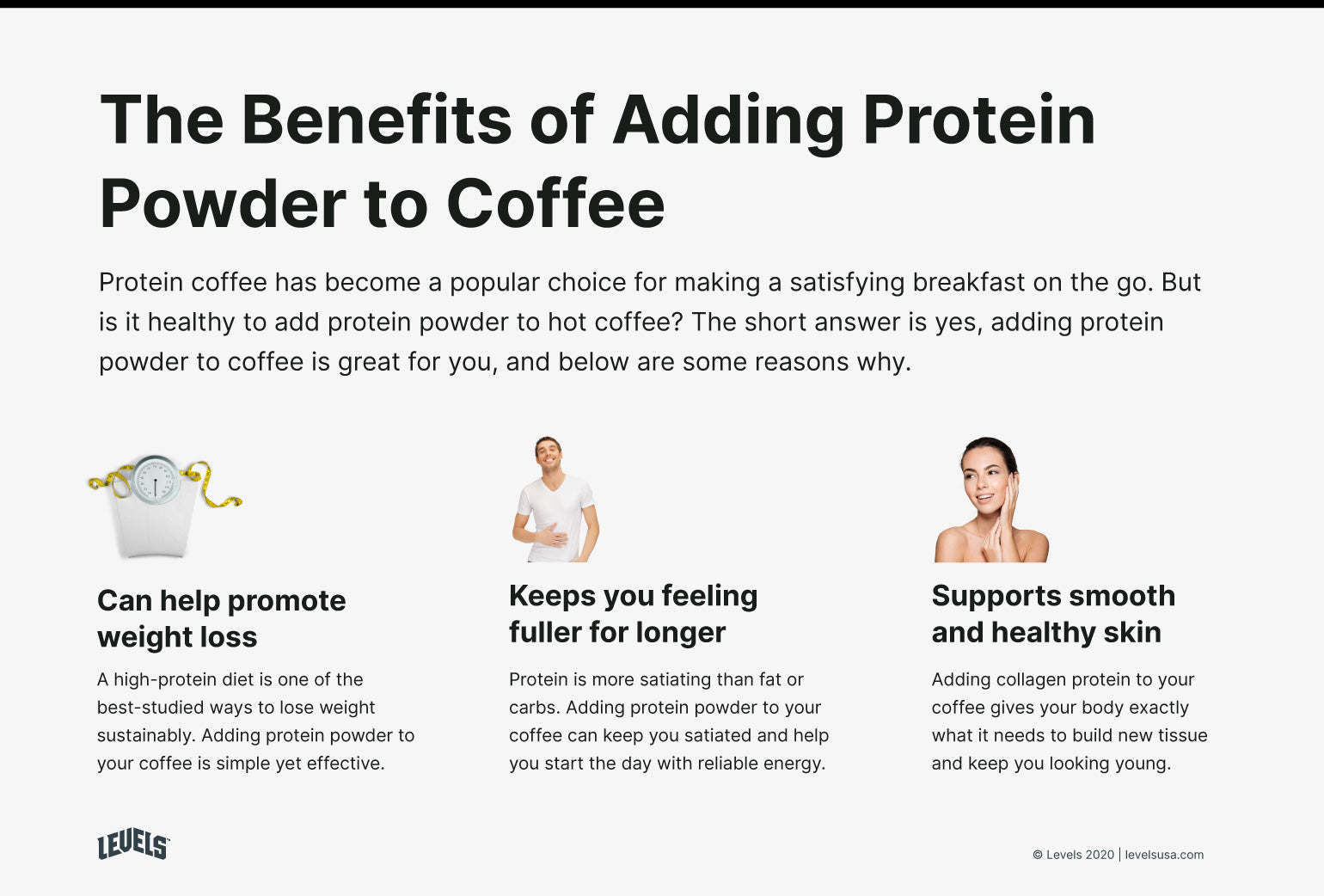 Benefits of Adding Protein Powder to Coffee - Infographic