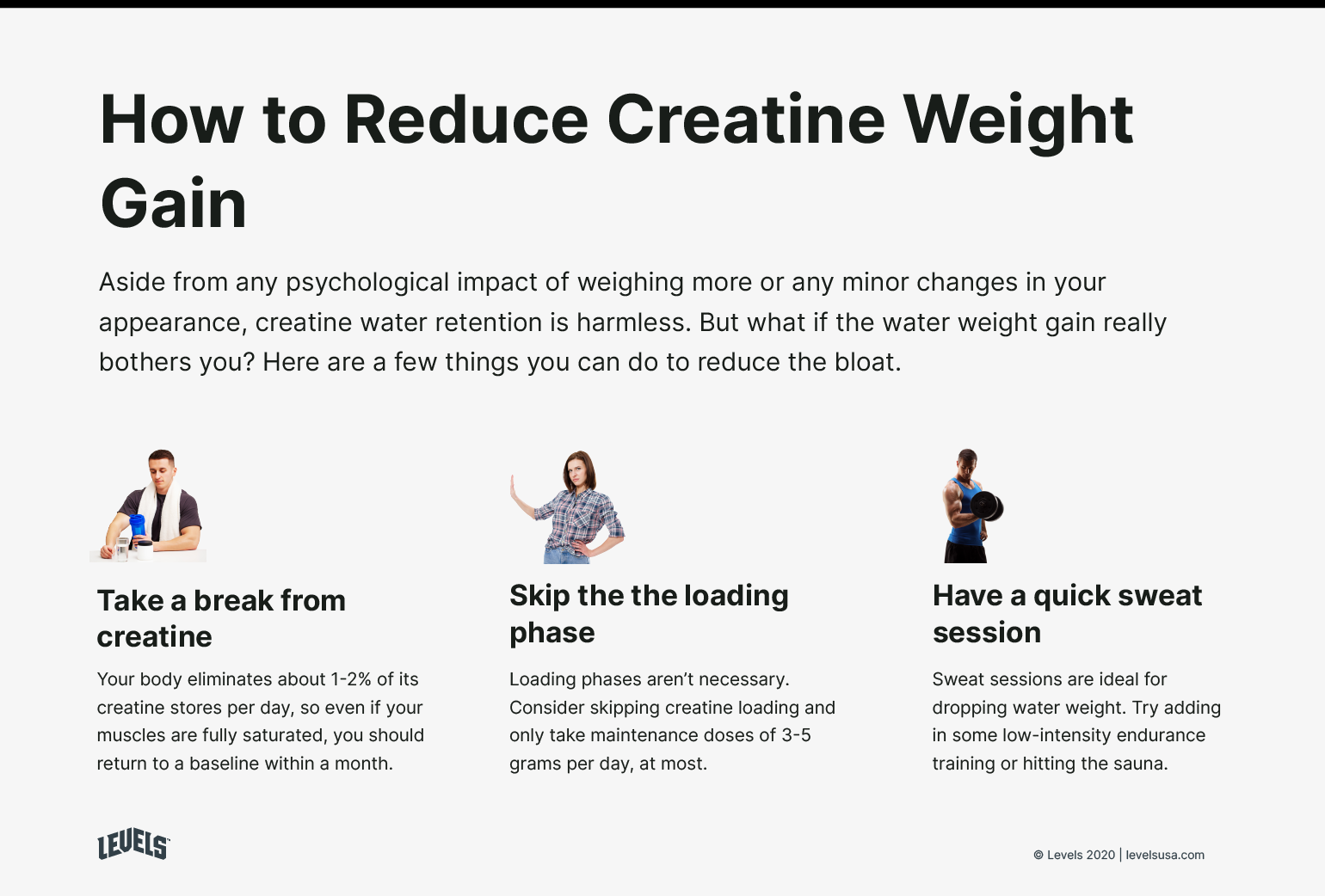 How To Reduce Creatine Weight Gain - Infographic