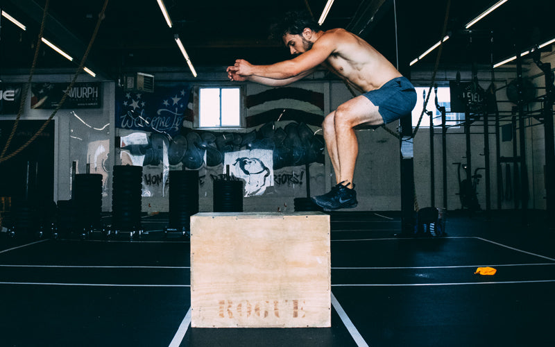 Levels athlete box jump