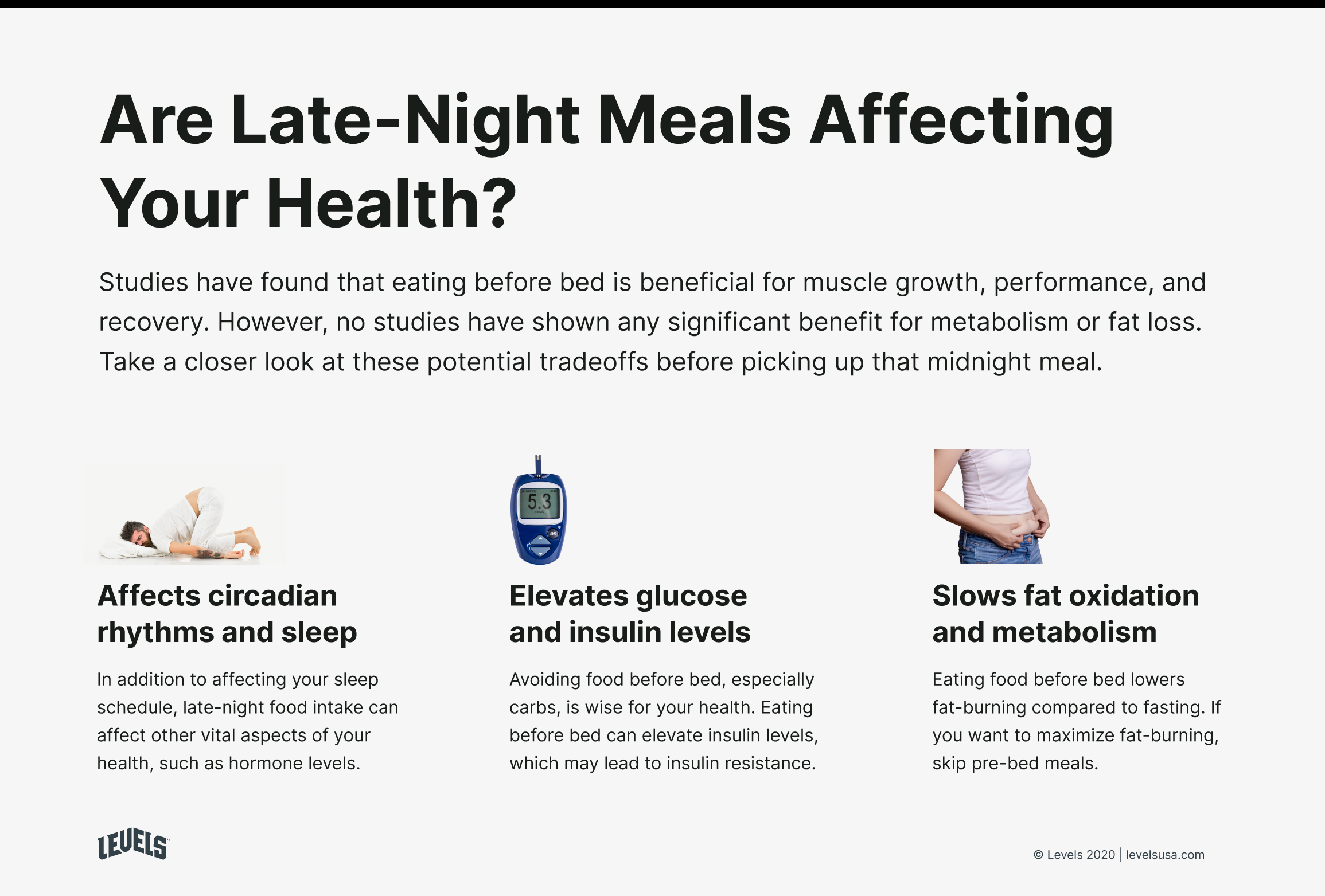 Downsides of Eating Before Bed Infographic