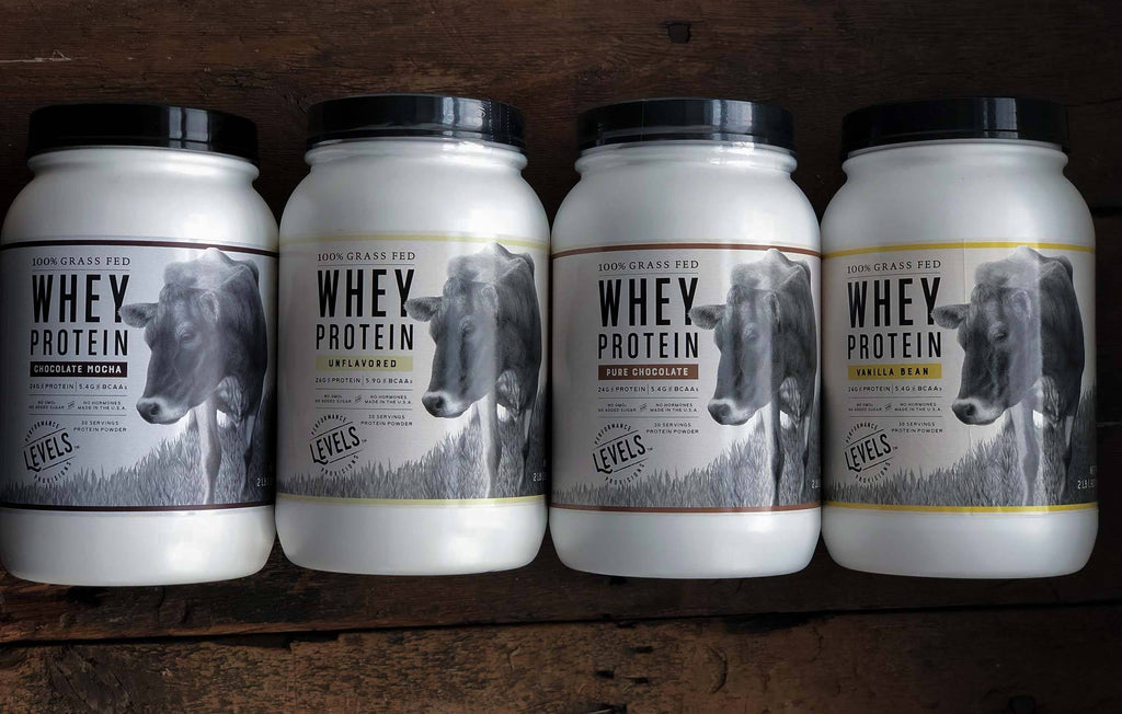 Original Levels Grass Fed Whey Protein Canisters