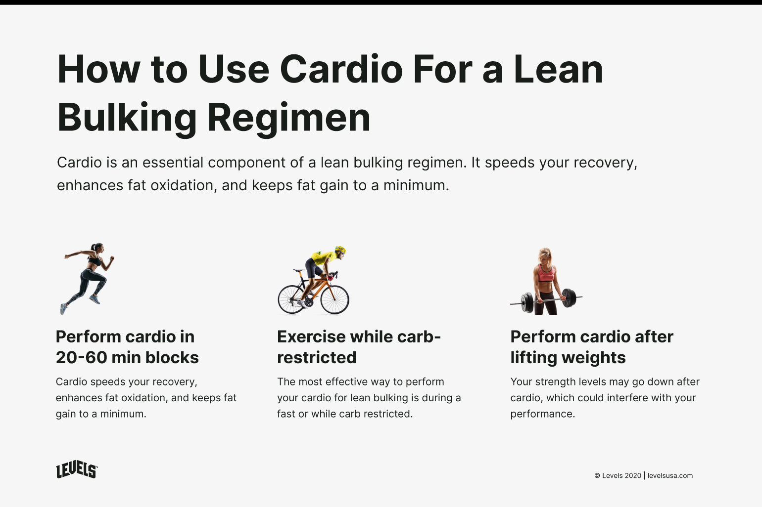 Cardio For Lean Bulking - Infographic