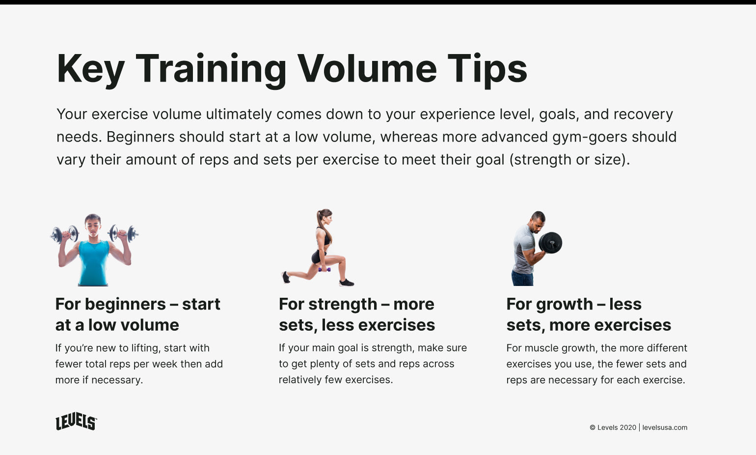 Tips for Exercise Volume - Infographic