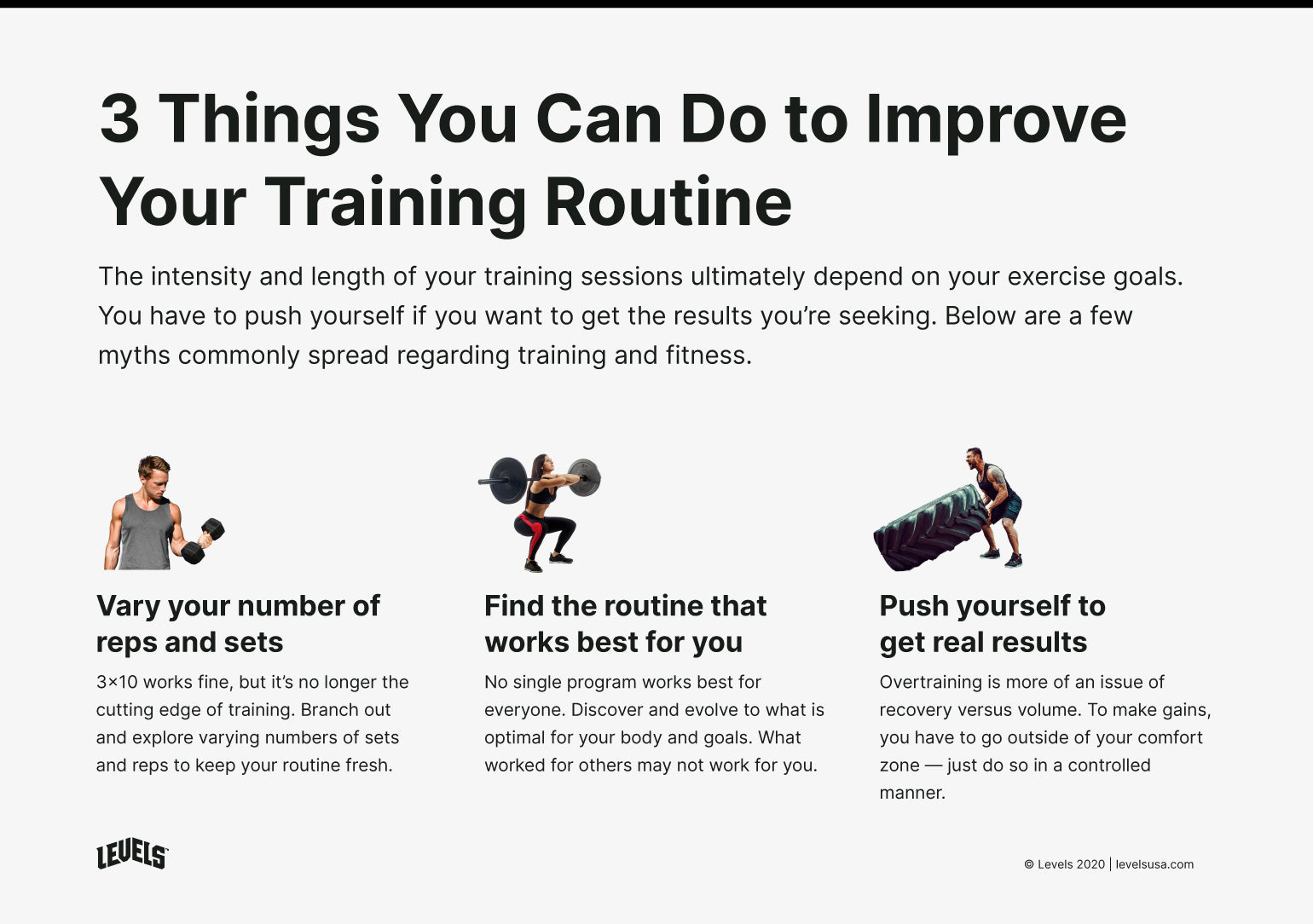 3 Training Volume Myths Busted - Infographic