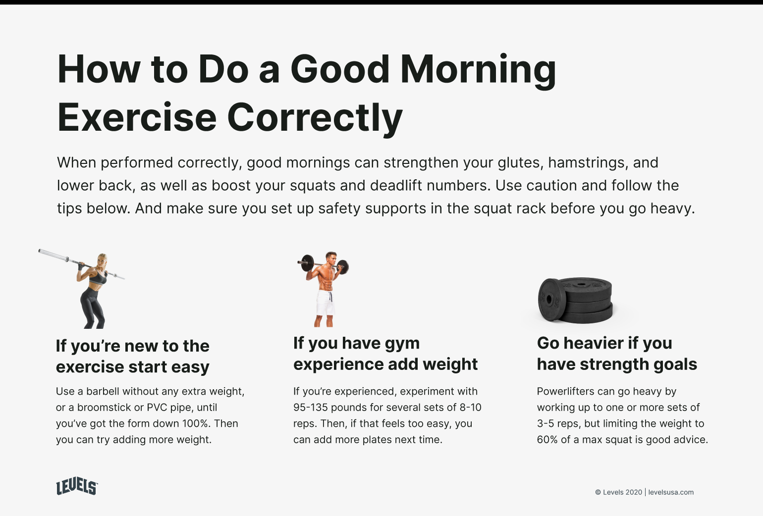 How to Do a Good Morning Exercise Correctly - Infographic