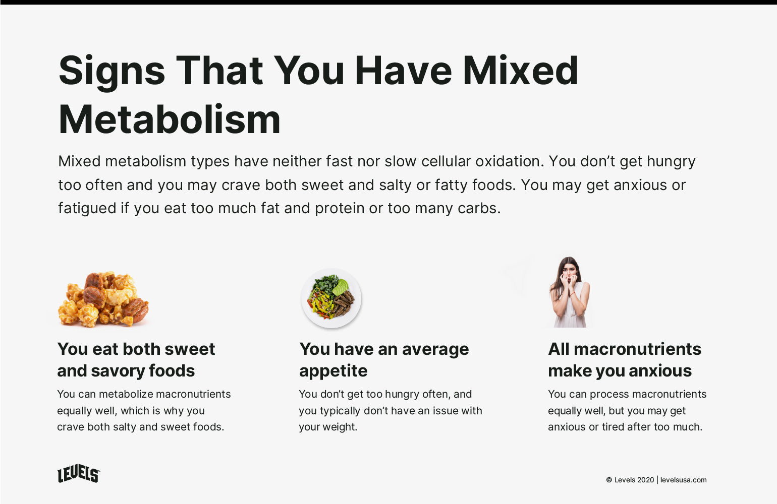 Signs You Have Mixed Metabolism - Infographic