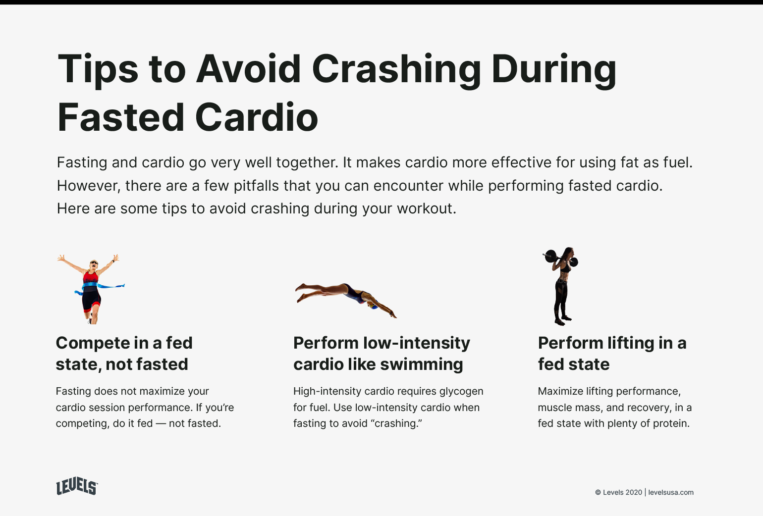 Tips to Avoid Crashing During Fasted Cardio - Infographic